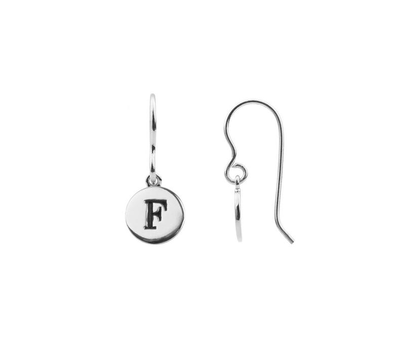 Earring letter F plated