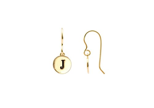 All the Luck in the World Earring letter J gold
