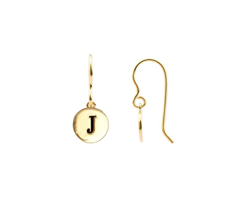 Earring letter J plated