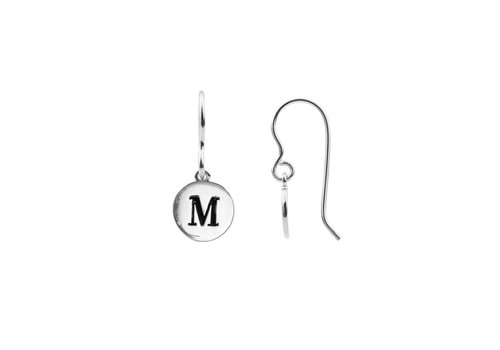 All the luck in the world Earring letter M silver