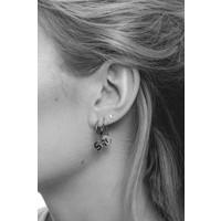 Earring letter M silver