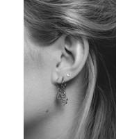 Earring letter P silver