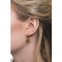 Character Goldplated Earring letter R