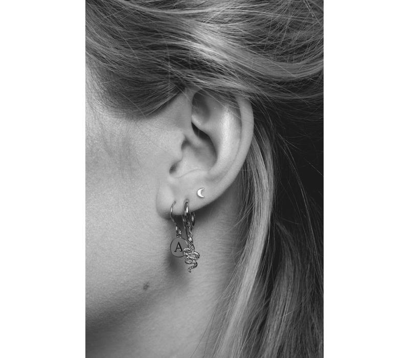 Character Silverplated Earring letter R