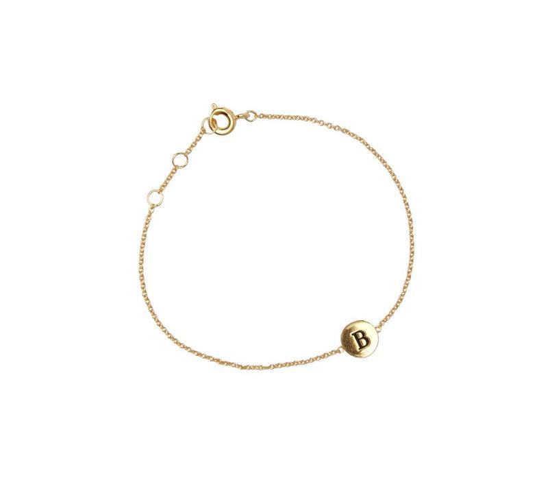 Bracelet letter B 18K gold