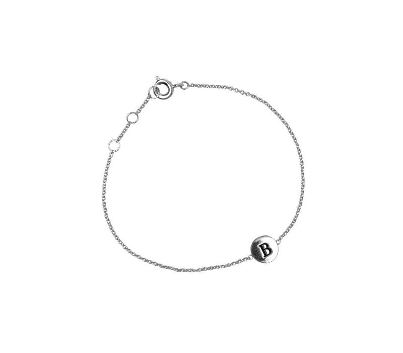 Bracelet letter B plated