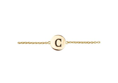 All the Luck in the World Armband letter C 18K goud