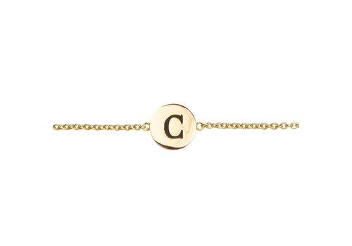 All the Luck in the World Bracelet letter C 18K gold