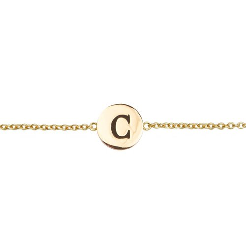 Character Goldplated Armband letter C