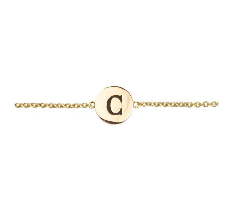 Armband letter C 18K goud