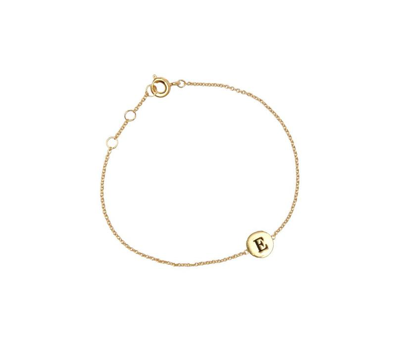 Character Goldplated Armband letter E