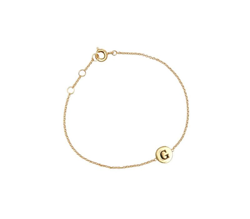 Bracelet letter G plated