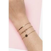 Character Goldplated Bracelet letter H