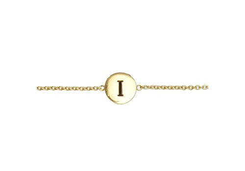 All the Luck in the World Armband letter I 18K goud