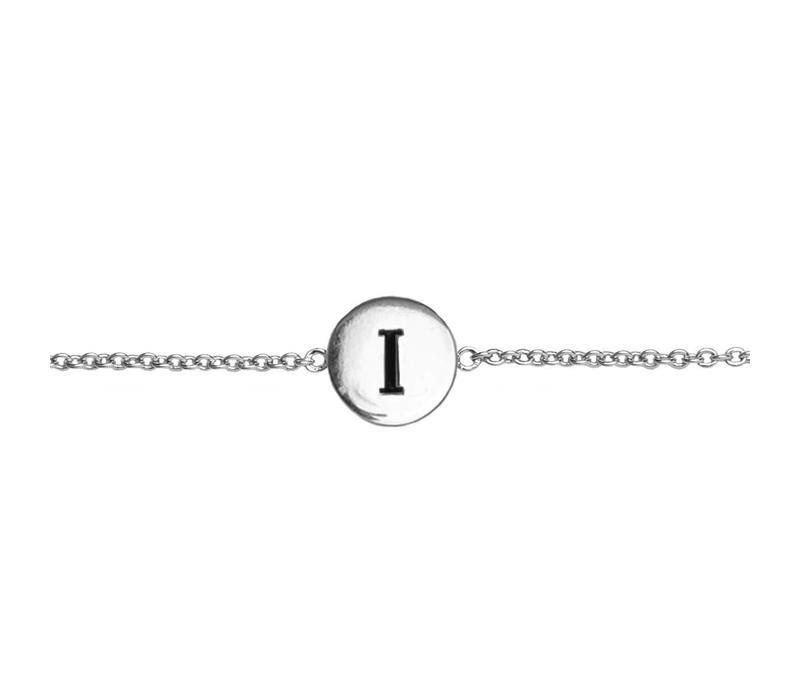 Character Silverplated Bracelet letter I