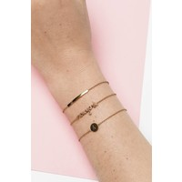 Character Goldplated Armband letter J
