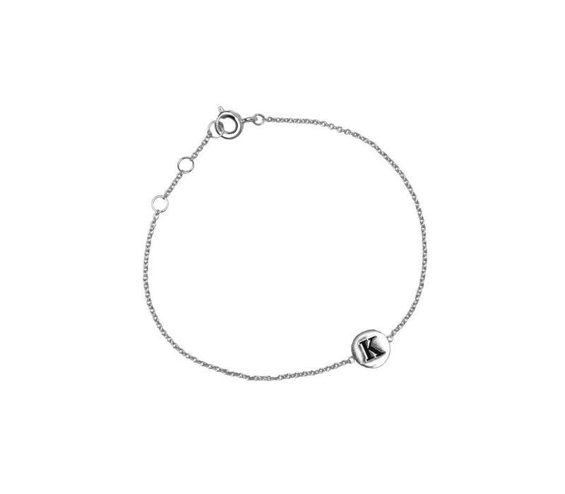 Character Silverplated Bracelet letter K