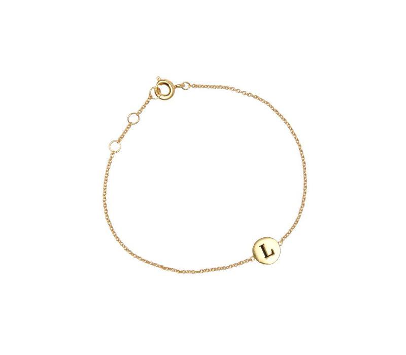 Armband letter L goud