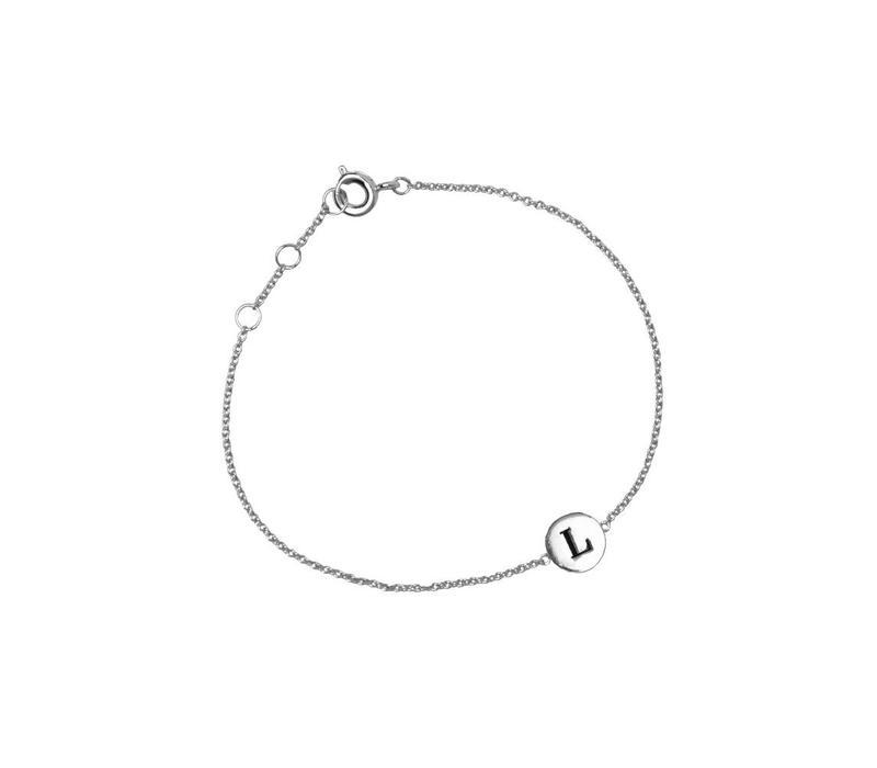 Armband letter L zilver