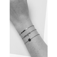 Character Silverplated Armband letter N