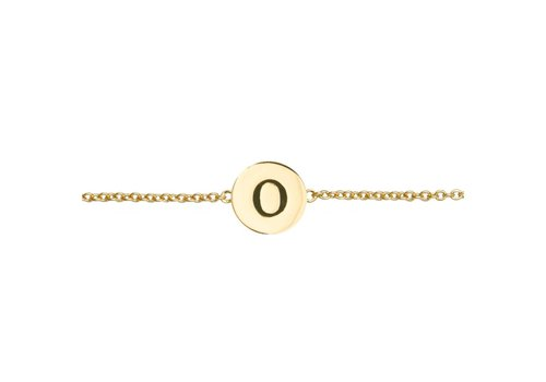 All the luck in the world Armband letter O goud