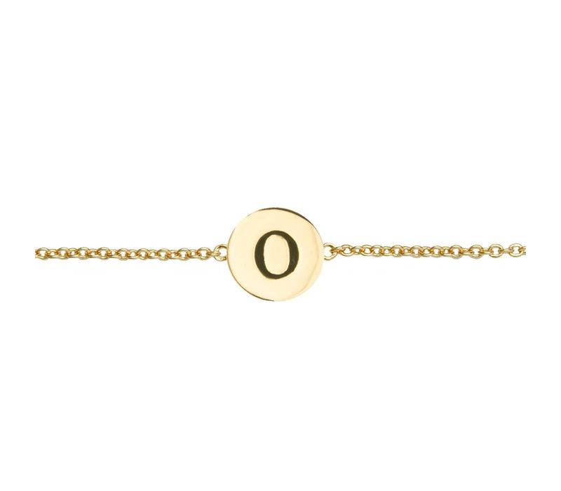 Armband letter O 18K goud