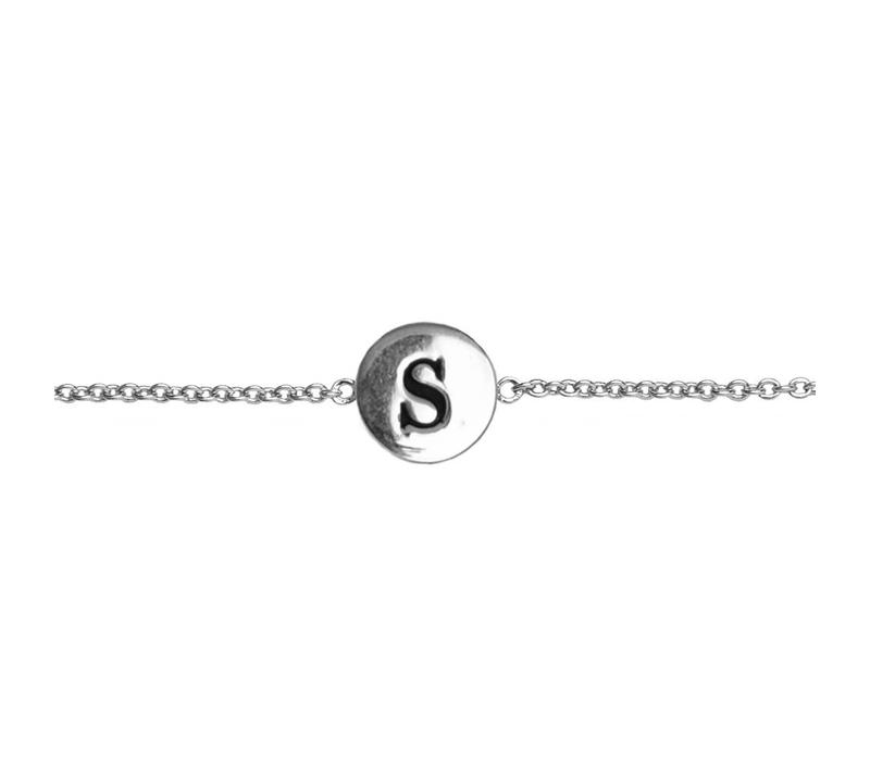 Armband letter S zilver