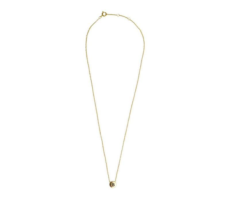Character Goldplated Ketting letter B