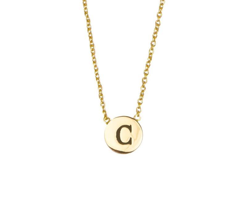 Ketting letter C 18K goud