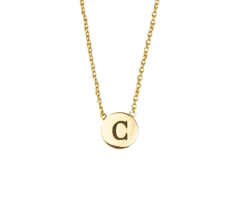 Necklace letter C plated