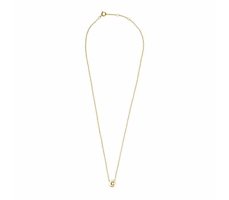 Necklace letter C 18K gold