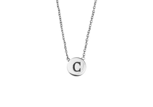 All the Luck in the World Character Silverplated Necklace letter C