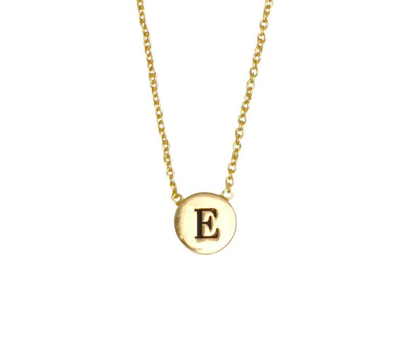 Necklace letter E gold