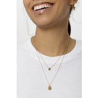 Character Goldplated Ketting letter E