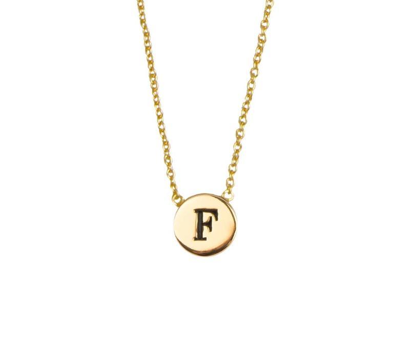 Ketting letter F 18K goud