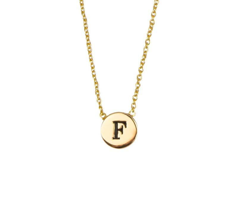 Necklace letter F gold