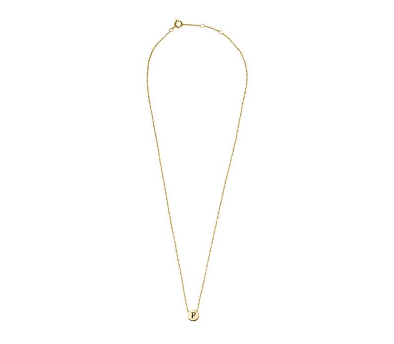 Character Goldplated Necklace letter F