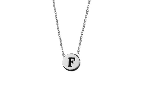All the Luck in the World Character Silverplated Necklace letter F