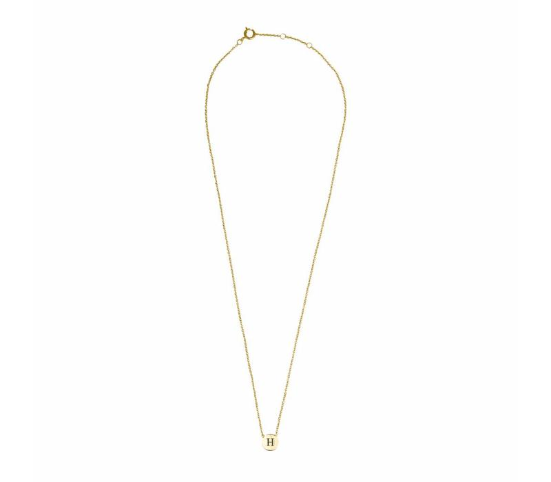 Character Goldplated Ketting letter H