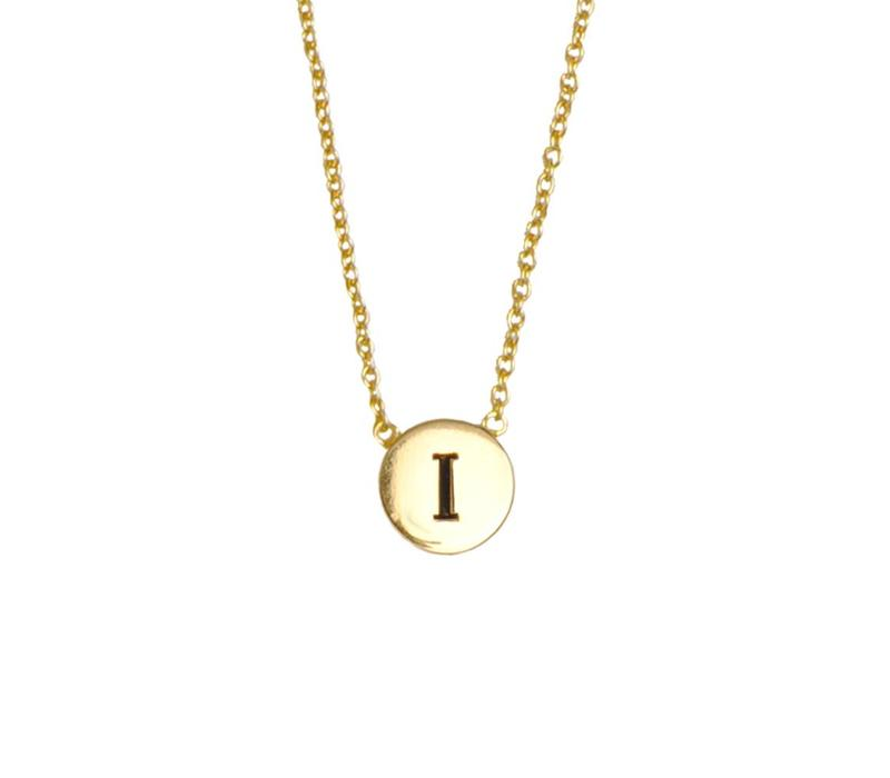 Character Goldplated Necklace letter I