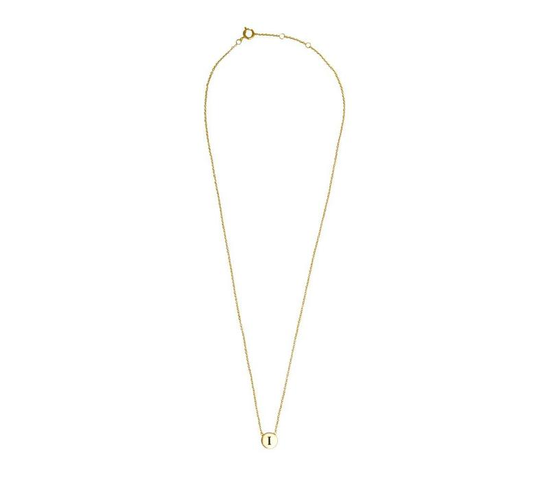Character Goldplated Ketting letter I