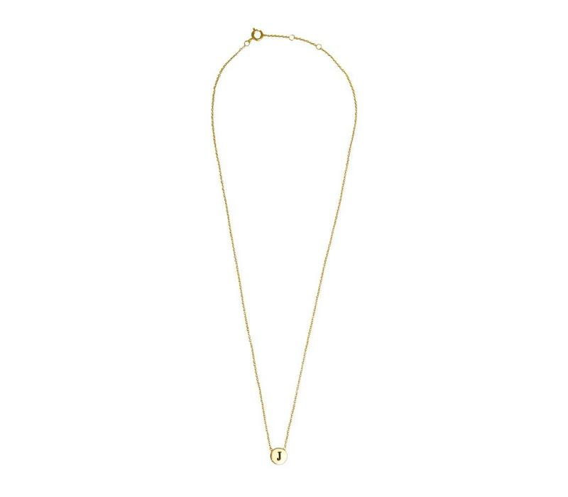 Character Goldplated Ketting letter J