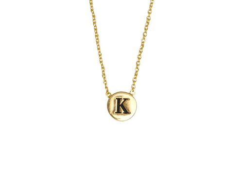 All the Luck in the World Necklace letter K gold