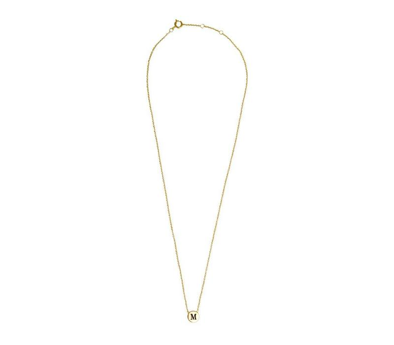 Character Goldplated Ketting letter M