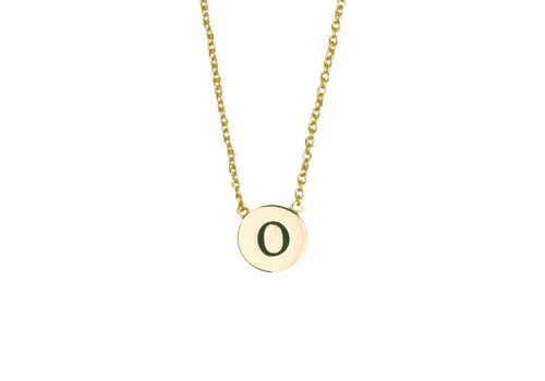 All the Luck in the World Ketting letter O 18K goud