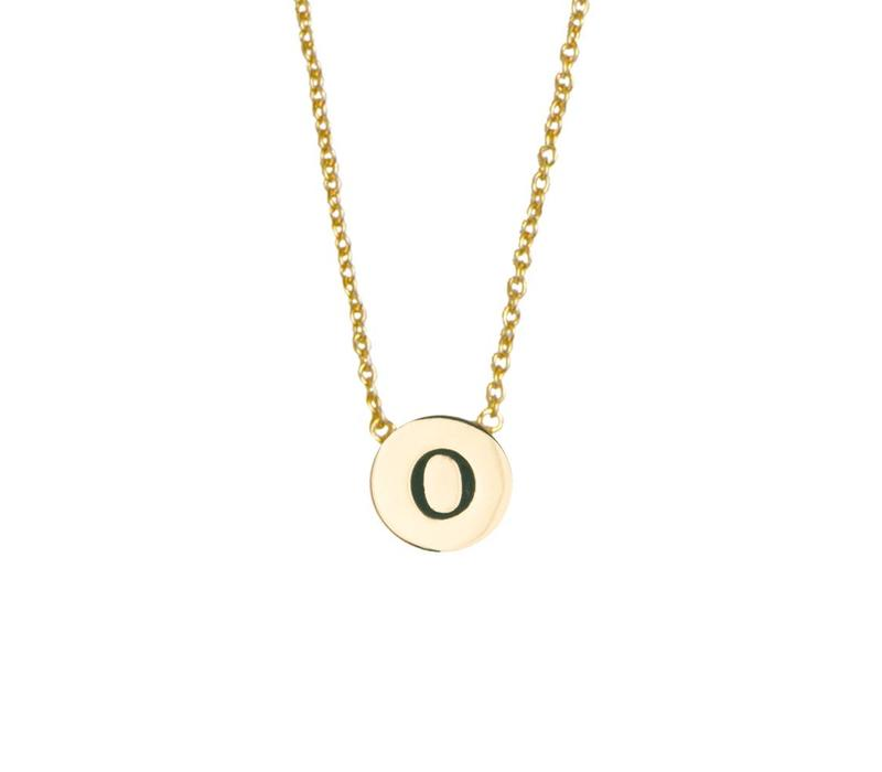 Necklace letter O plated