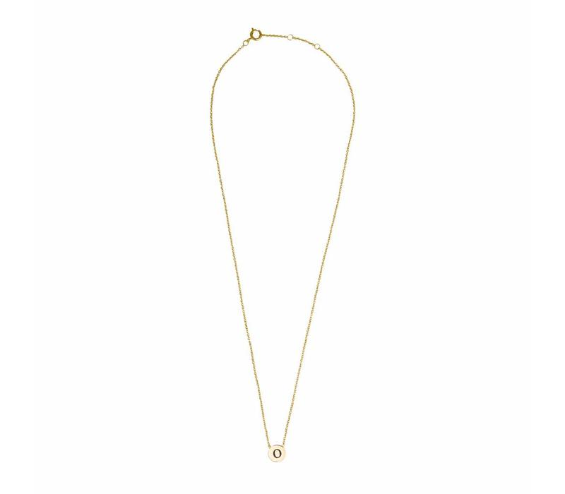 Character Goldplated Ketting letter O
