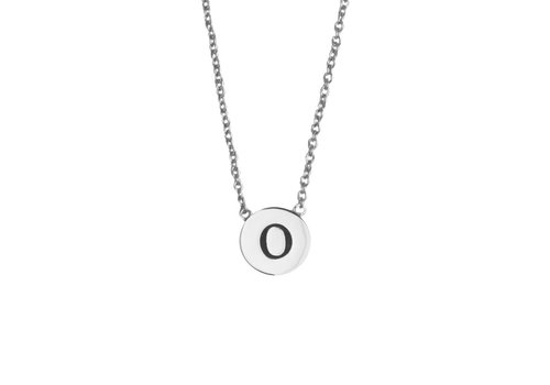 All the Luck in the World Character Silverplated Ketting letter O