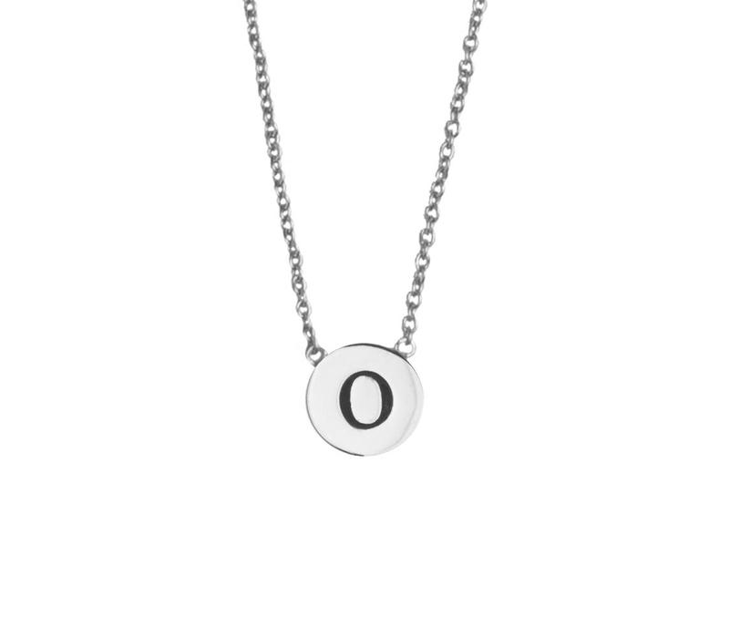 Character Silverplated Ketting letter O