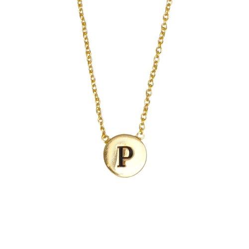 Ketting letter P 18K goud